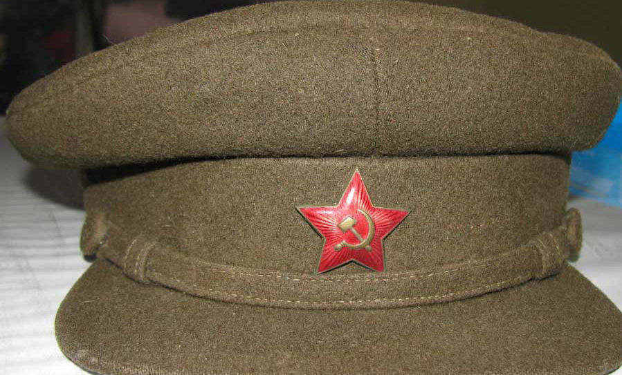 WW2 Soviet M35 Visor Cap-1941 Dated  e6b89650a56