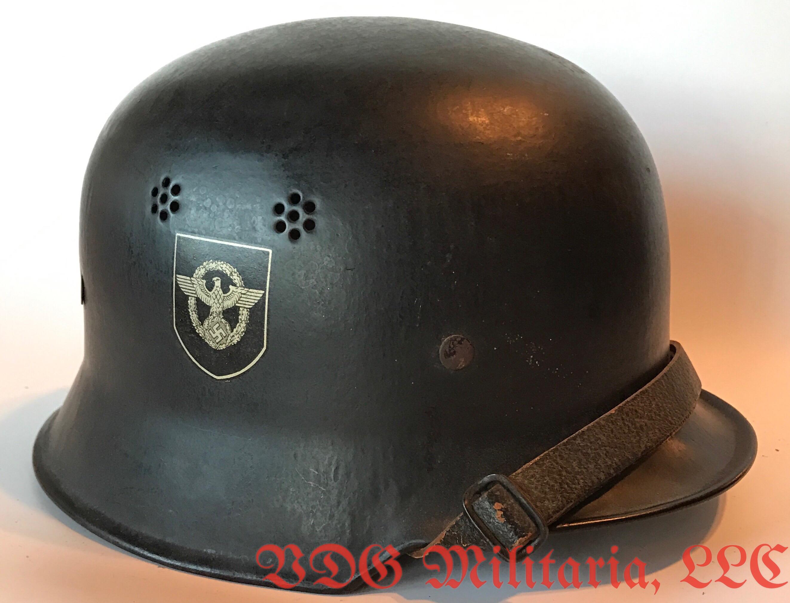 Ww2 Polizei M34 Helmet Vdg Militaria