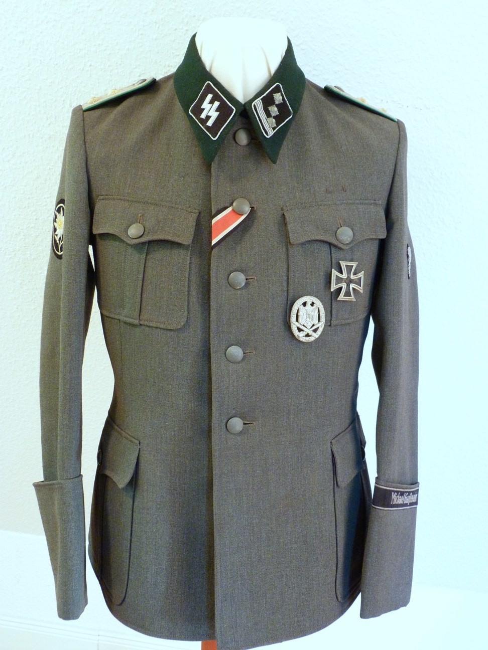 Ww2 Waffen Ss Michael Gai 223 Mair Officers Tunic Vdg