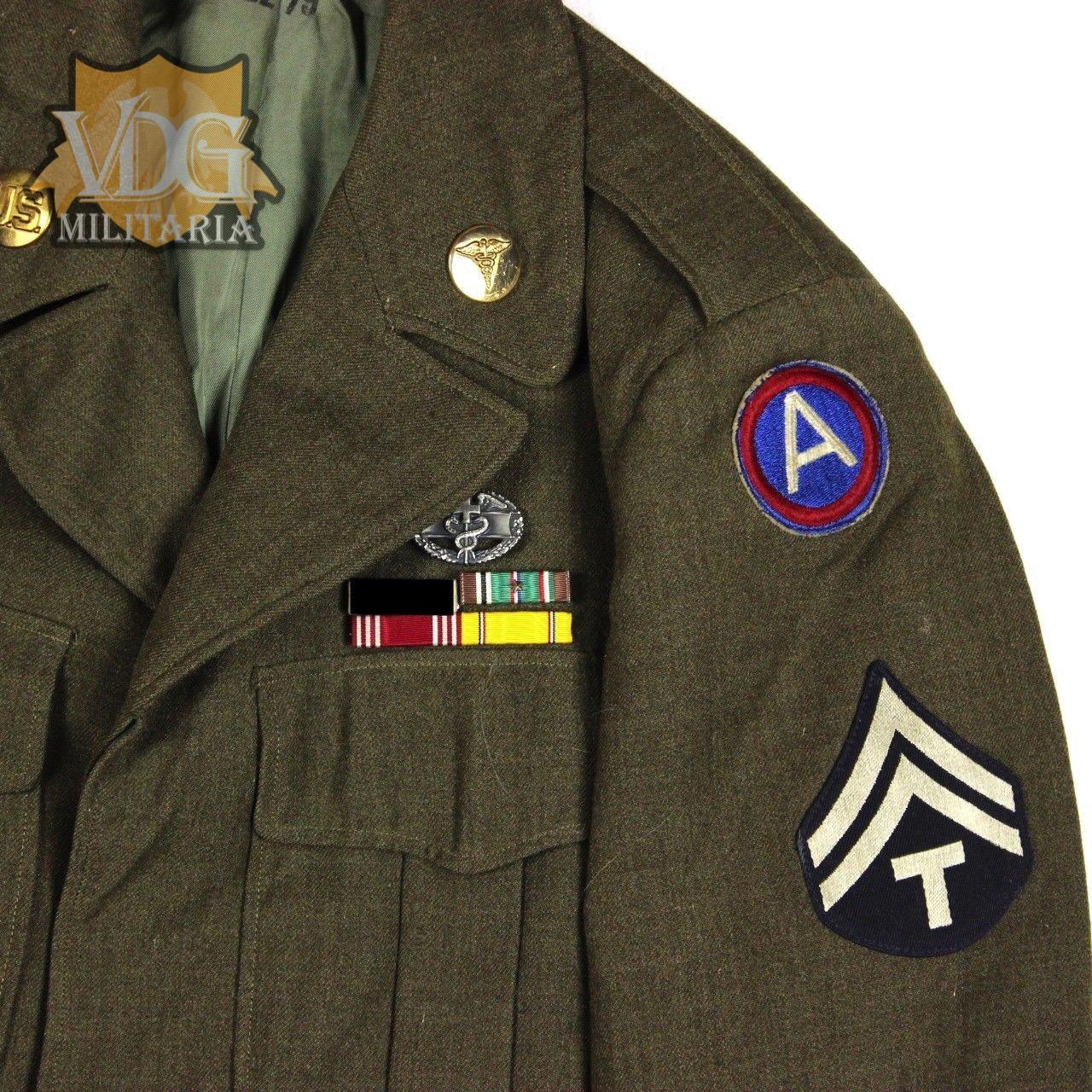 Us Wwii Enlisted Men Em Ike Dress Jacket Combat Medic
