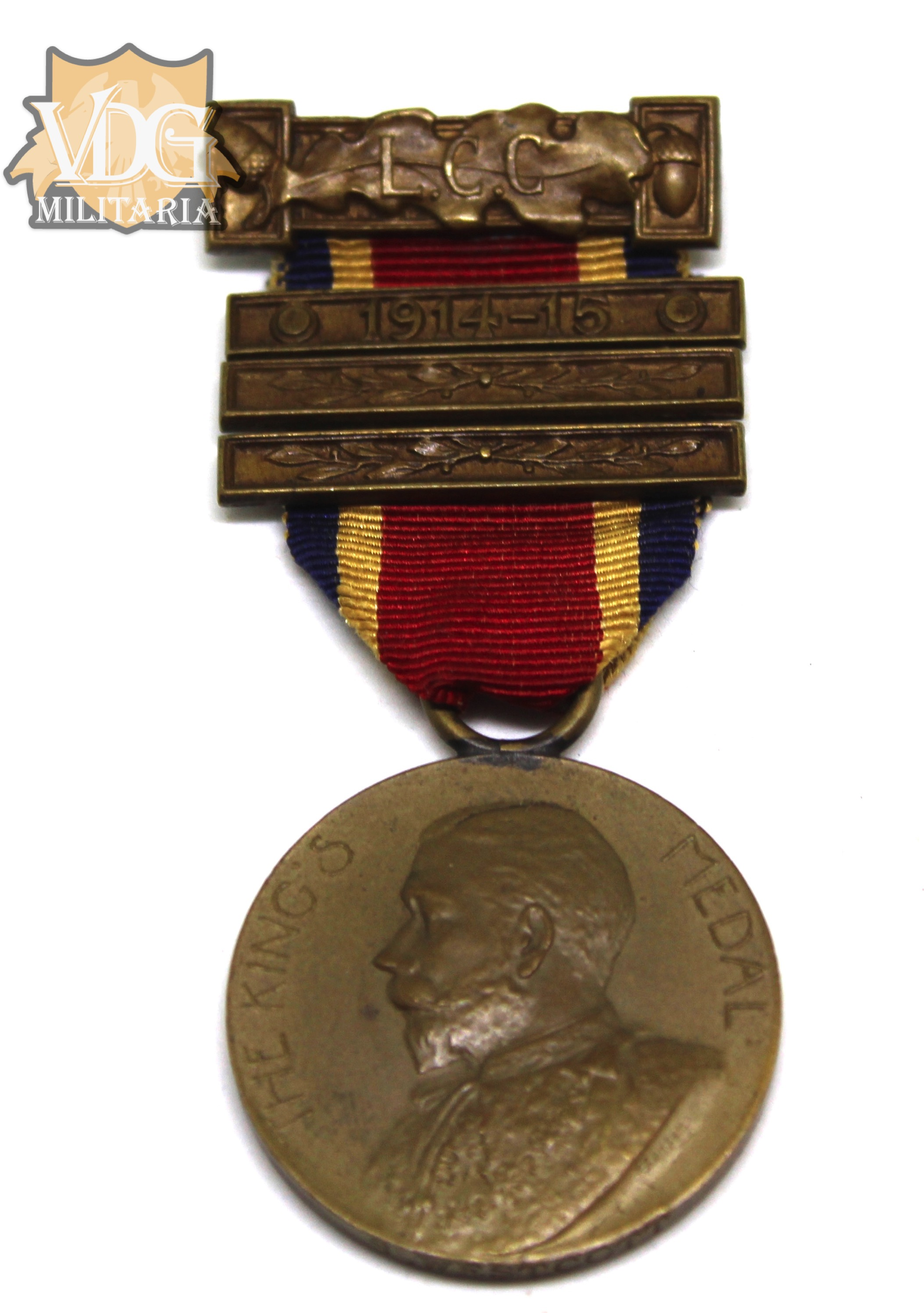 British The Kings Medal 1914 15 London County Council