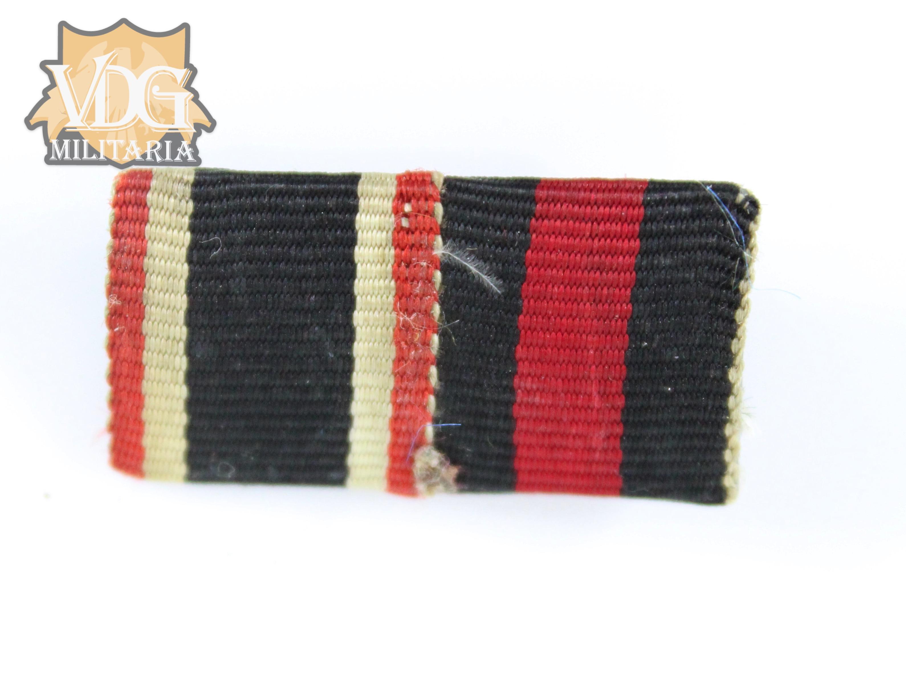 WW2 German Ribbon Bar-War Merit Cross and Czech Annex Medals