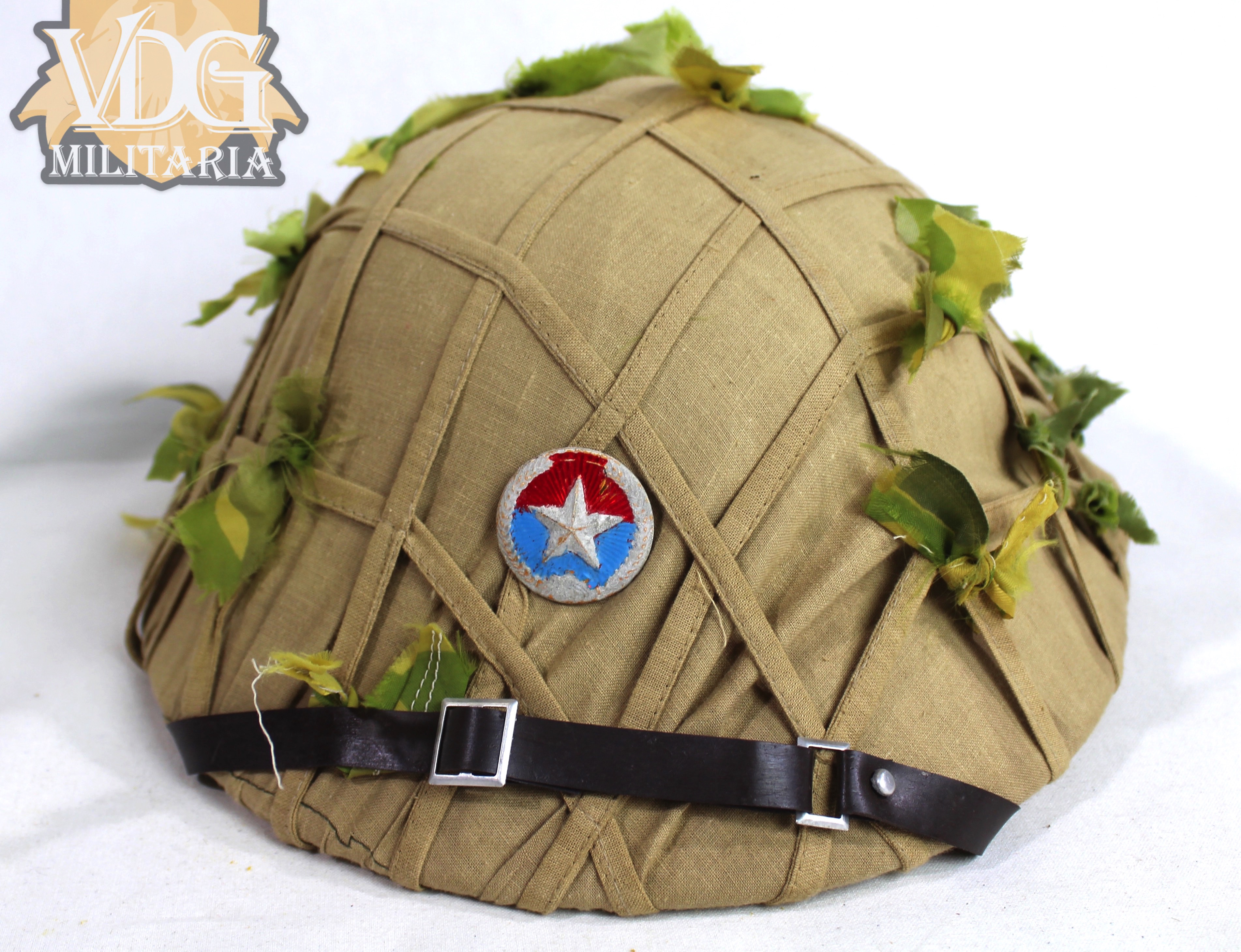 viet cong camouflage pith helmet