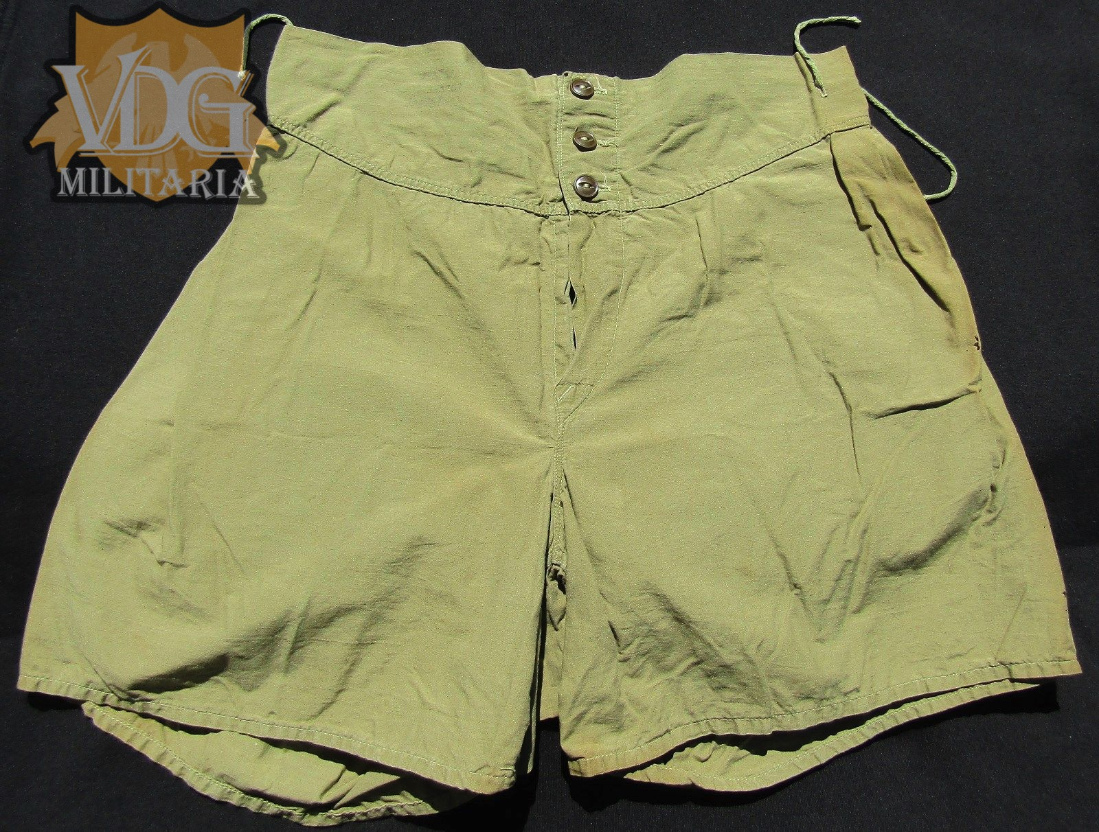 Wwii Us Army Od Cotton Boxer Shorts Underwear Size 32