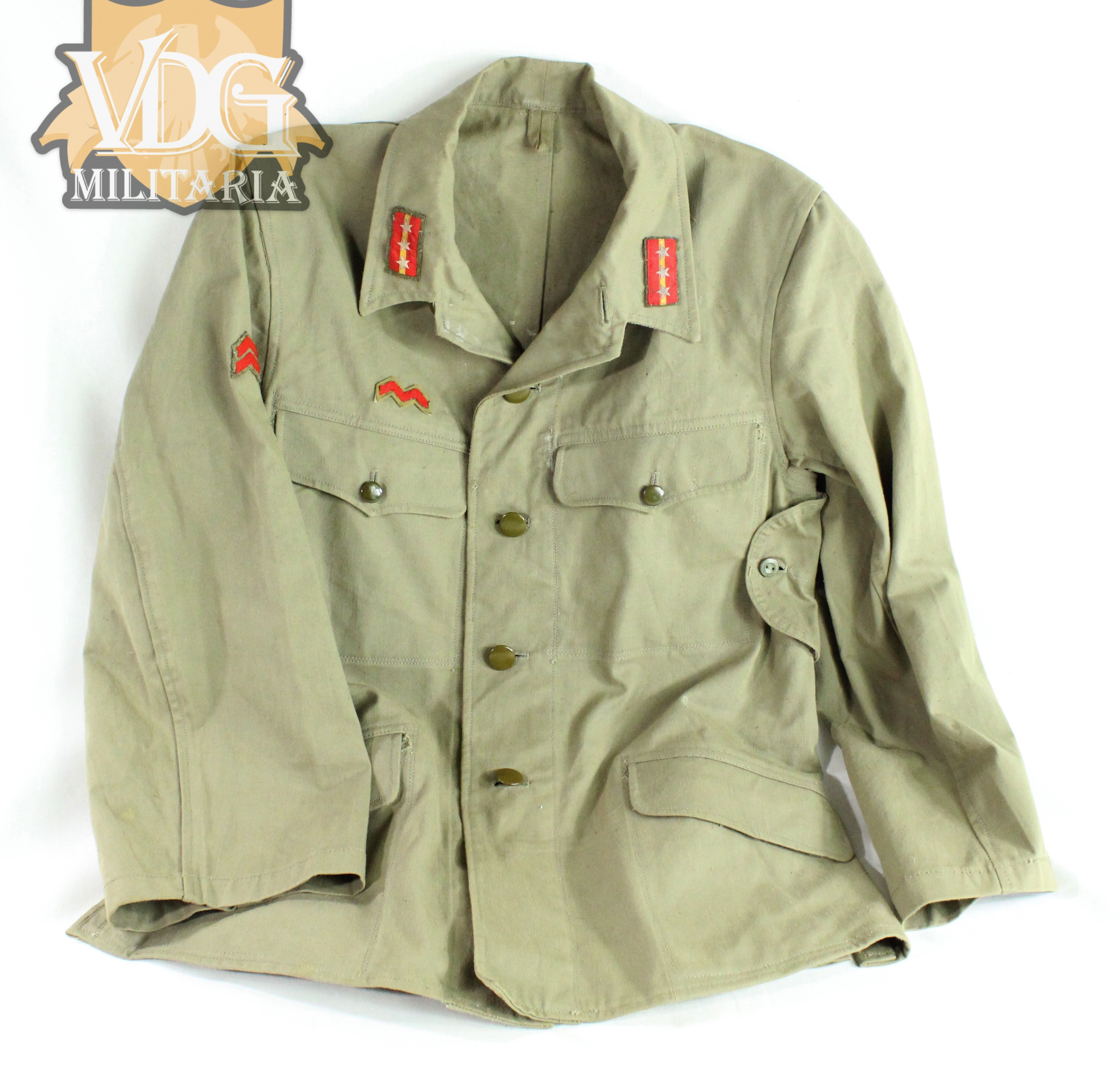 wwii japanese t98 sergeant major tropical uniform